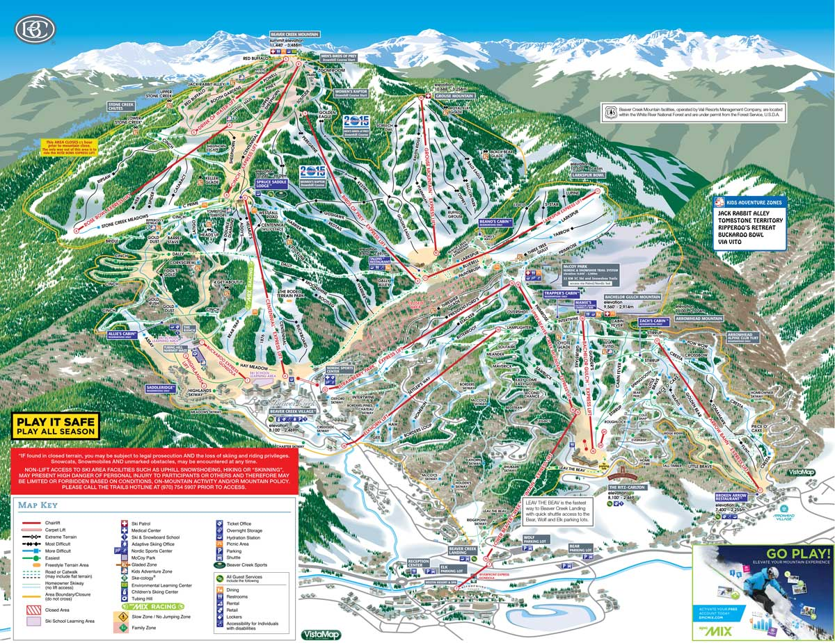 100 Whitefish Mountain Resort Trail Map Big