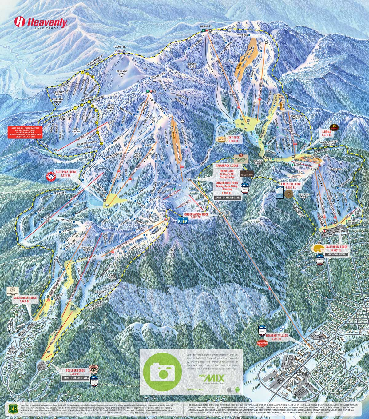 HEAVENLY - TRAIL MAP