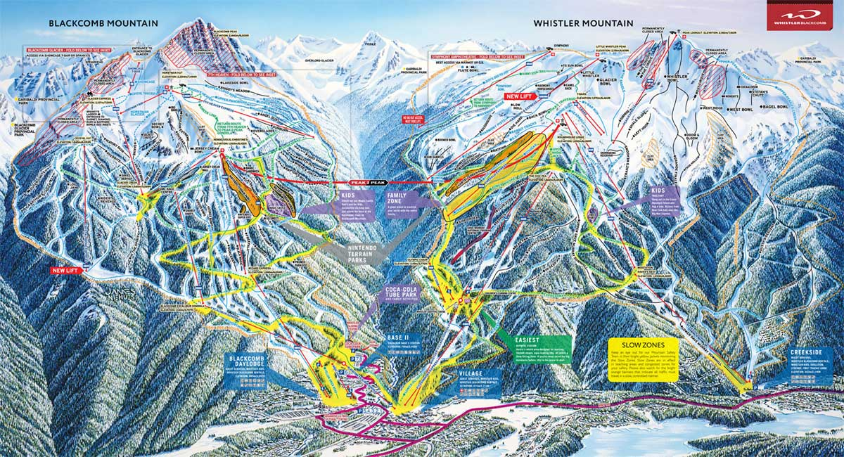 WHISTLER - TRAIL MAP